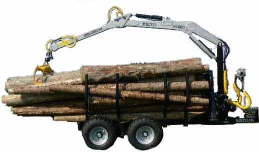 Vyvážečky dřeva za traktor