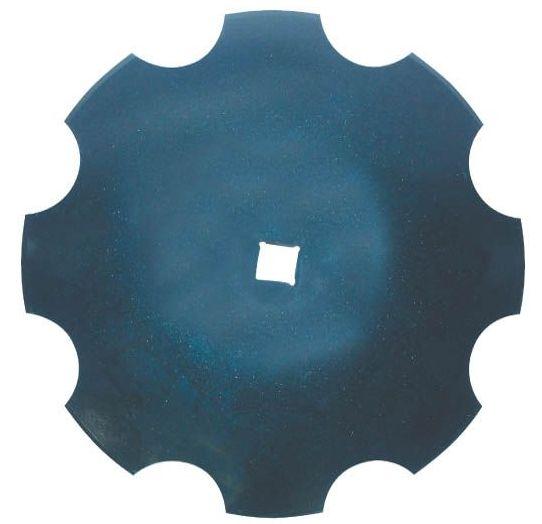 Ozubený disk diskové brány průměr 610 mm tloušťka 5 mm pro hřídel 35 x 35 mm