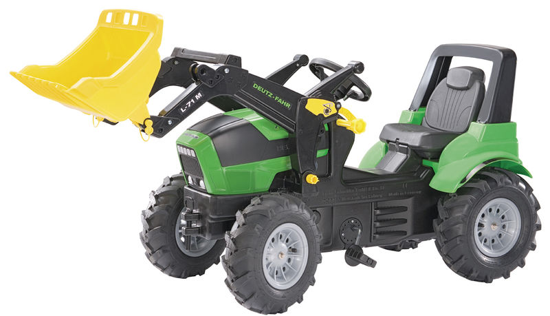 Rolly Toys - šlapací traktor s čelním nakladačem Deutz Agroton vzduchové pneumatiky