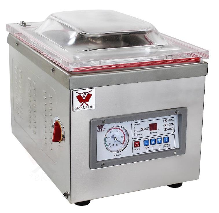 Komorová vakuovačka BEEKETAL D260Z profi vakuová balička potravin, lišta 260 mm, 320 W