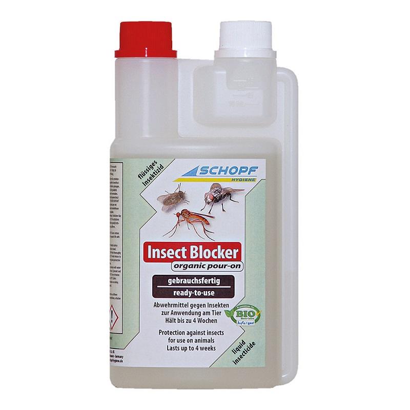 Insect Blocker organic BIO repelent a odpuzovač much, bodalek, pakomárce 500 ml pro skot
