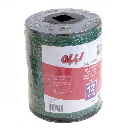 Zelená vodivá páska Shockteq OLLI 12 mm/200 m pro elektrický ohradník (1)