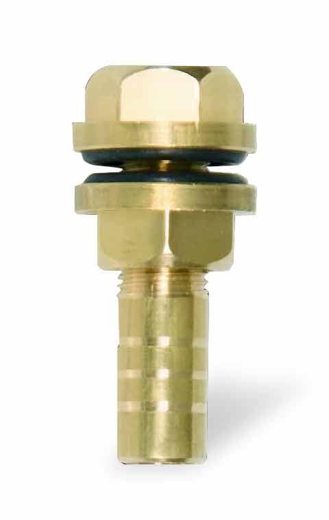 Redukce k tanku, vývod z nádržky mosazný pro hadičkové napájecí rozvody 9 mm