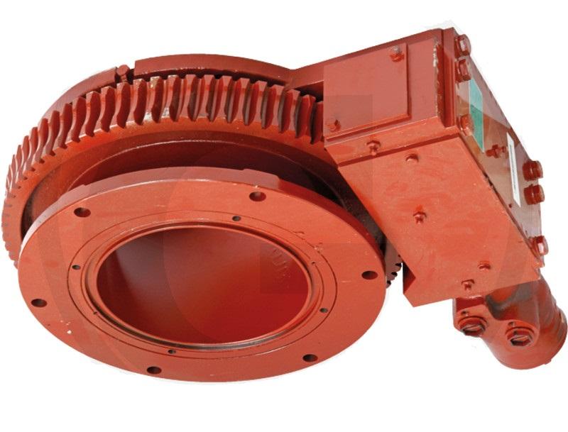 B&P otočný kloub 07-D200 hydraulicky poháněný pro šoupata na fekální vozy