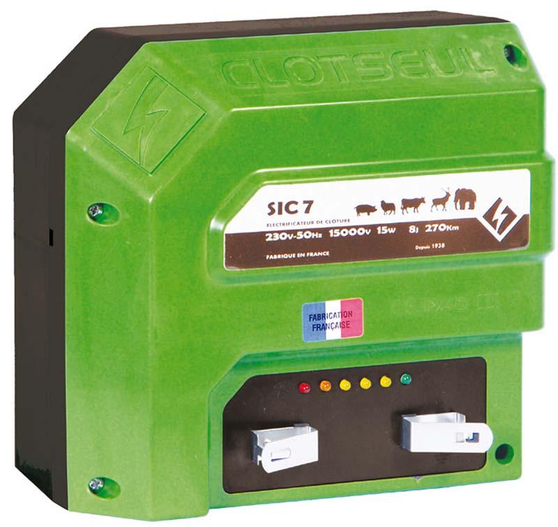 Síťový zdroj pro elektrický ohradník CLOTSEUL SIC 7 napětí 230V, 5 J