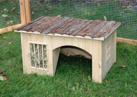 Domek NATURE pro hlodavce dřevěný 54 x 41 x 30 cm