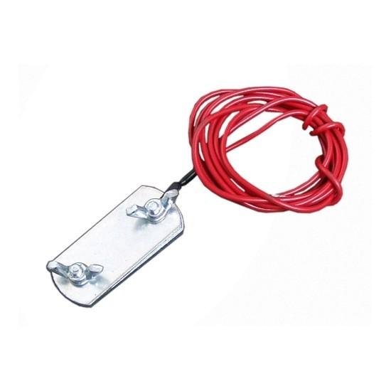 Přípojovací kabel k elektrickému ohradníku 1 klema na ohradníkovou pásku do 40 mm