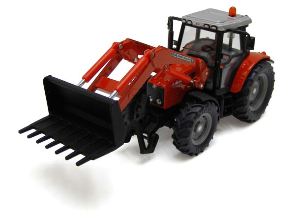 Siku – traktor Massey Ferguson 5455 s čelním nakladačem 1:32