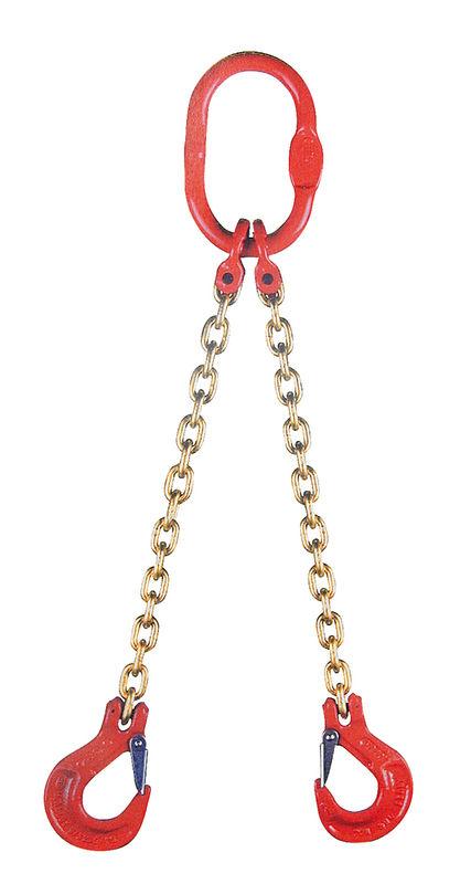 Jeřábový řetěz G8 dvoupramenný síla 13 mm délka 1 m s okem a háky