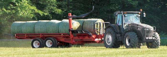Samonakládací vůz na kulaté balíky za traktor Anderson RBM2000