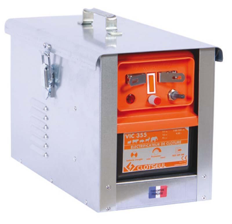 CLOTSEUL VIC 355 bateriový 12V zdroj napětí pro elektrický ohradník, 4,85J
