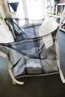 Velkoobjemový vak Big Bag 90 x 90 x 100 cm na dřevní štěpku a dříví rovné dno otevřený