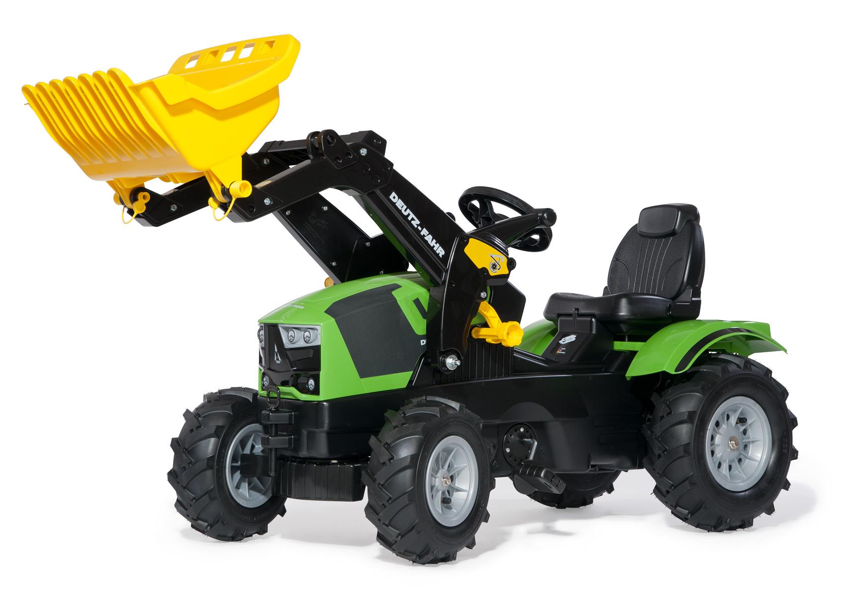 Rolly Toys - šlapací traktor s čelním nakladačem Deutz 5120 RollyFarmTrac vzduchové pneu