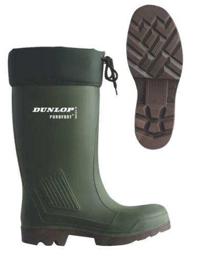 Teplé holínky Dunlop Thermoflex s ocelovou špičkou velikost 44