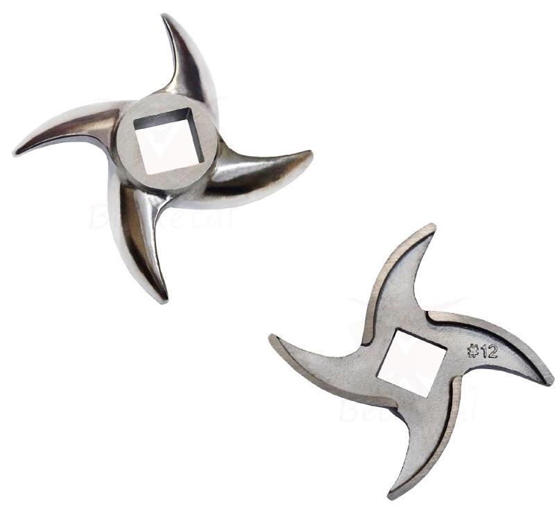Nůž do elektrického mlýnku na maso BEEKETAL FW735 a FW550P 120 kg/hodina velikost 10/12