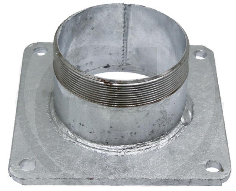Ocelová příruba 5″ zinkovaná s vsuvkou na potrubí rozteč děr 150 x 150 mm