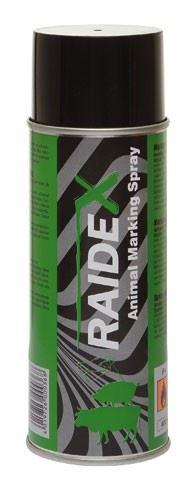 Značkovací sprej RAIDEX 400 ml zelený  k označování skotu, prasat a koz