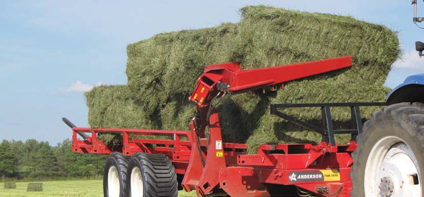 Samonakládací vůz na hranaté balíky za traktor Anderson TSR3450