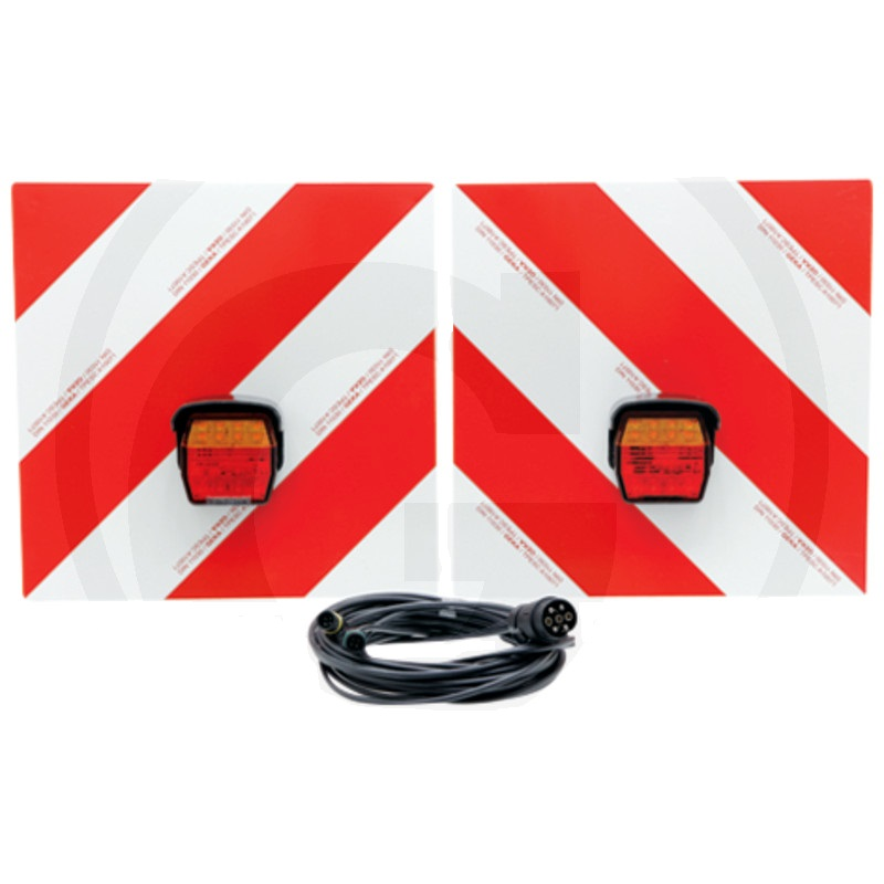 Sada výstražné tabulky pro vozidla přesahující do šířky a výšky s LED třífunkčním světlem