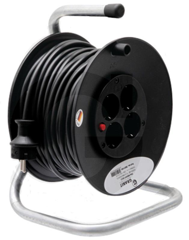 Prodlužovací kabel 25 m s navijákem 4 zásuvky