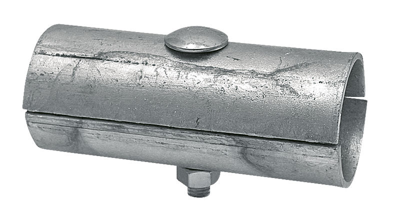 Stájová ocelová spojka dvojitá dvoudílná se šroubem