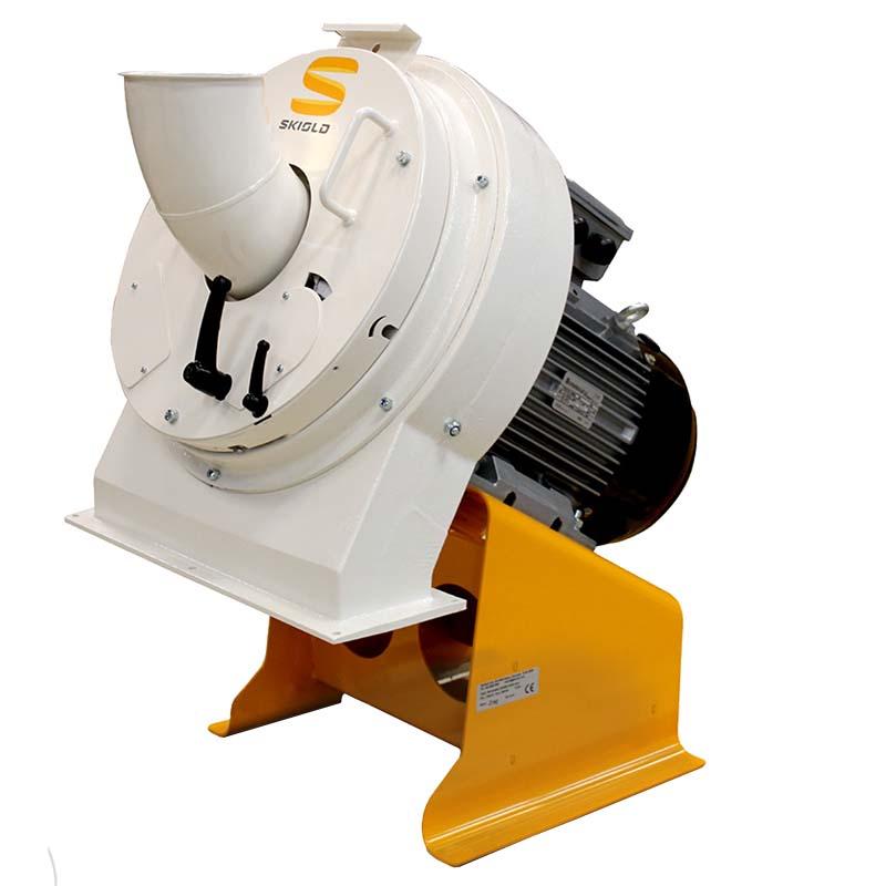 Diskový mlýn na obilí SKIOLD SK2500 a SK5000 automatické nastavení různé výkony