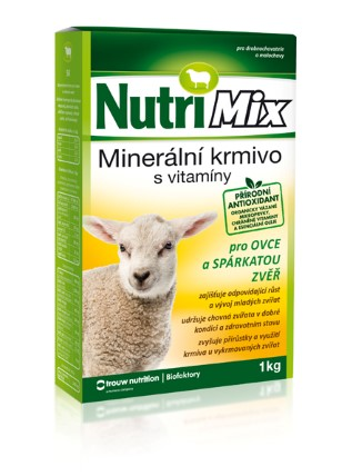 Nutrimix pro ovce a spárkatou zvěř – doplňkové minerálně vitamínové krmivo