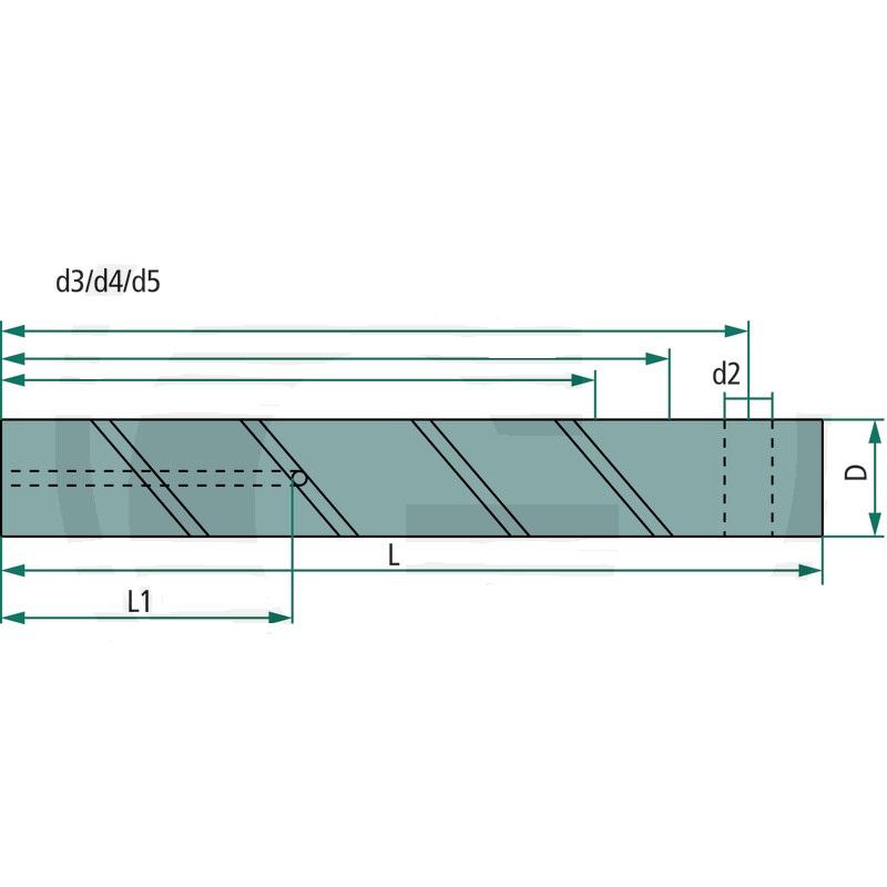 Mazací čep se 3 vývrty C45 D=30 mm L=235 mm pro lžíce rypadel a čelní nakladače