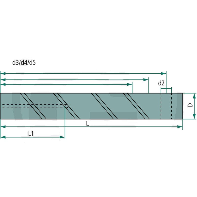 Mazací čep se 3 vývrty C45 D=50 mm L=295 mm pro lžíce rypadel a čelní nakladače