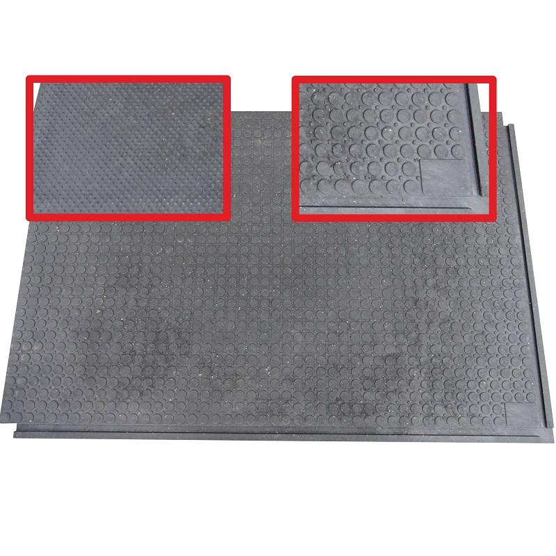 Zátěžová podlahová deska, stájová rohož z PVC 120 x 80 x 2,3 cm oboustranná izolační
