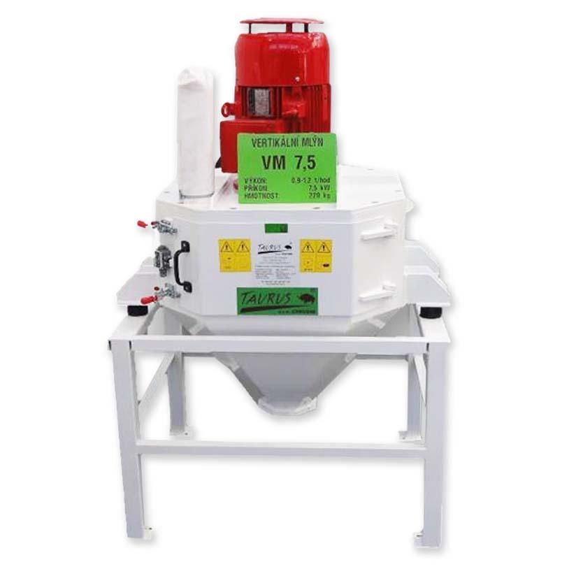 Kladívkový šrotovník na obilí, kukuřici VM 7,5 kW vertikální, drtič odpadu, slámy