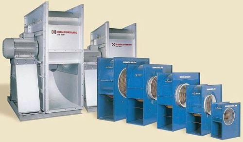 Nízkotlaký ventilátor HVL 150 Kongskilde - pozinkované provedení