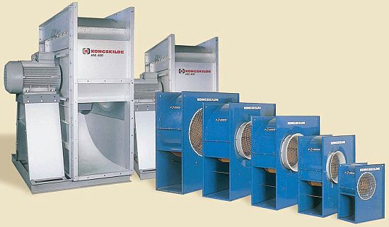 Nízkotlaký ventilátor HVL 500 GV 1 Kongskilde – pozinkované provedení