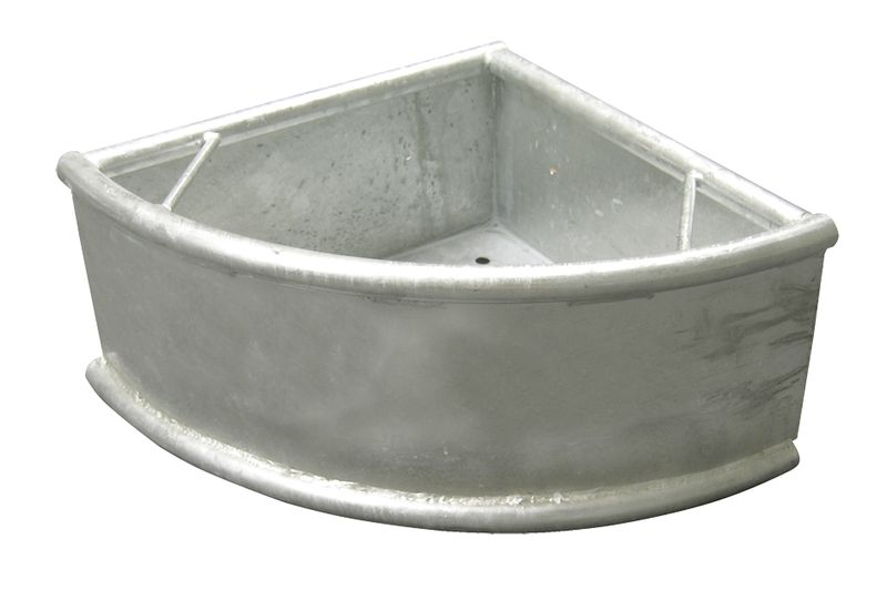 Trojúhelníkový rohový zinkovaný žlab pro koně, skot