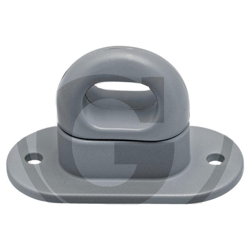 Plachtový třmen plastový se 2 otvory pro oka 42 x 22 mm