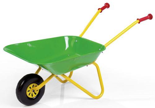 Kolečko plechové dětské zelené Rolly Toys