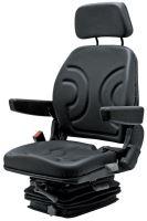 Traktorová sedačka Granit mechanicky odpružená textilní potah s pásem