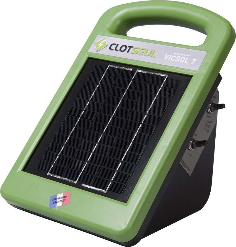 CLOTSEUL VICSOL 7 solární kombinovaný zdroj 12V/230V napětí pro elektrický ohradník, 0,7J