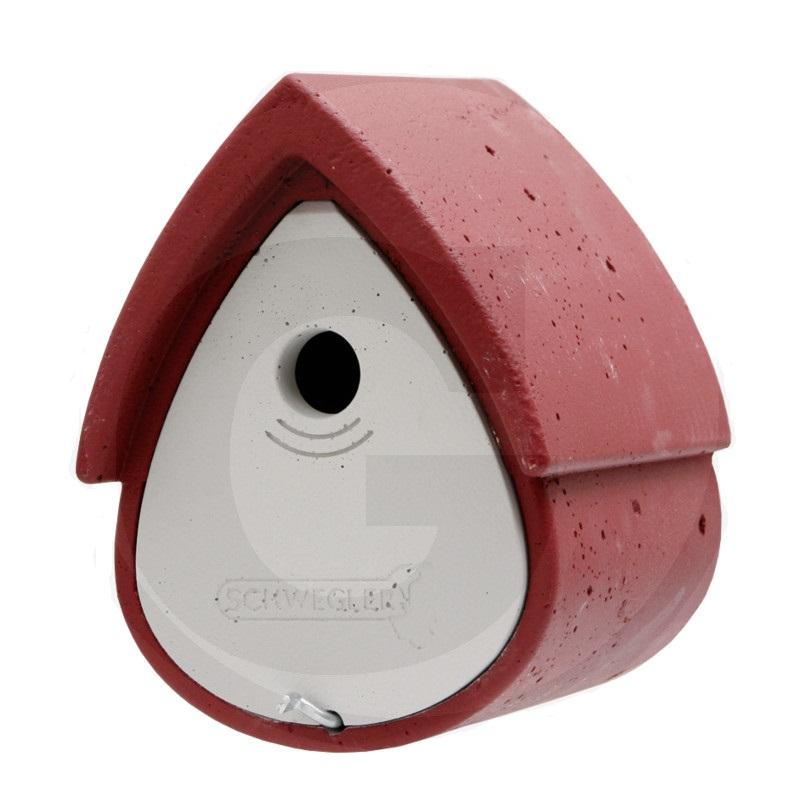 Budka pro sýkorky a většinu menších ptáků Schwegler červeno šedá rozměry 200 x 230 x 265mm