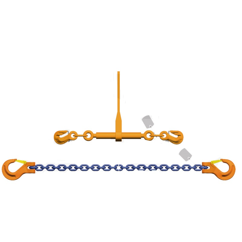 Vázací řetěz 10 mm délka 3,5 m s ráčnou napínák G10 síla 8000 daN pro zajištění nákladu