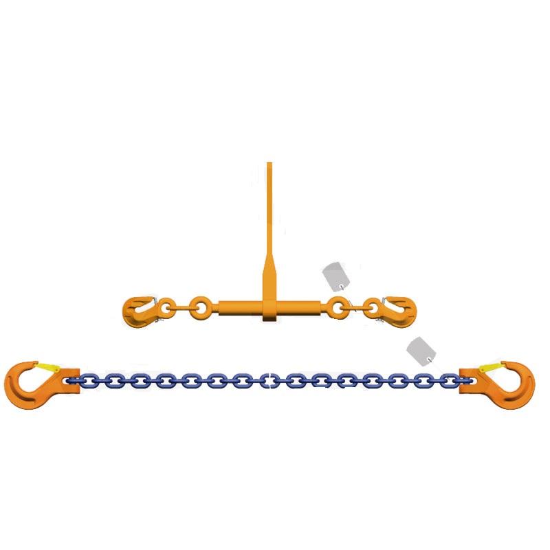 Vázací řetěz 8 mm délka 3,5 m s ráčnou napínák G10 síla 5000 daN pro zajištění nákladu