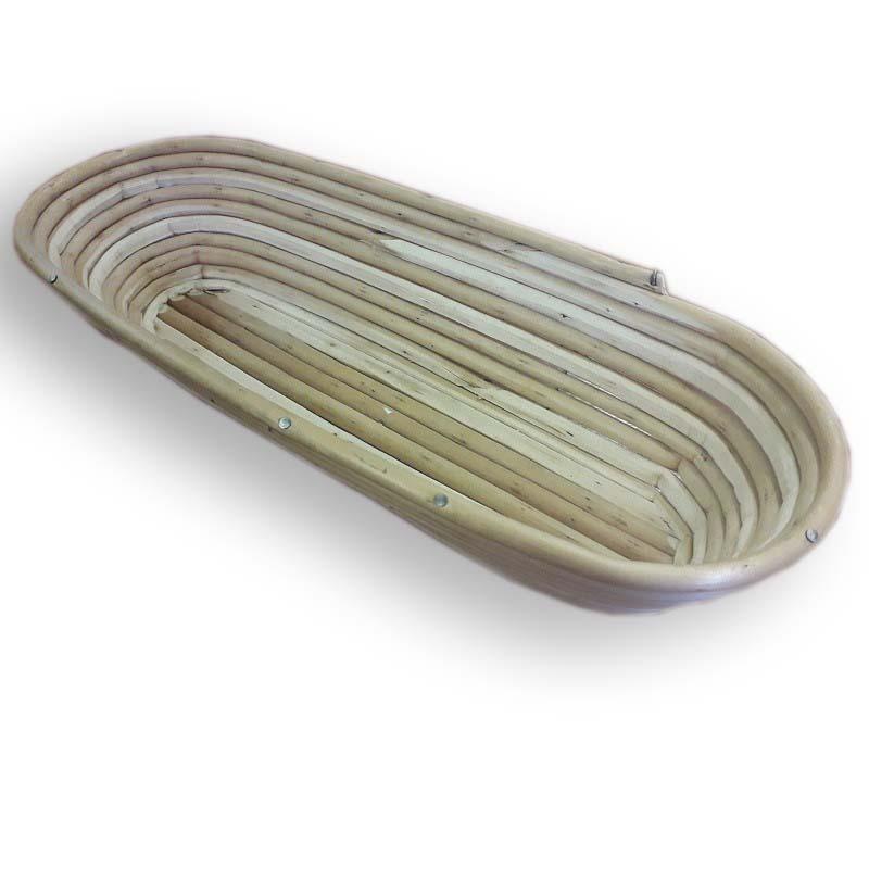 Ošatka na kynutí chleba proutěná oválná na 1,2 kg těsta