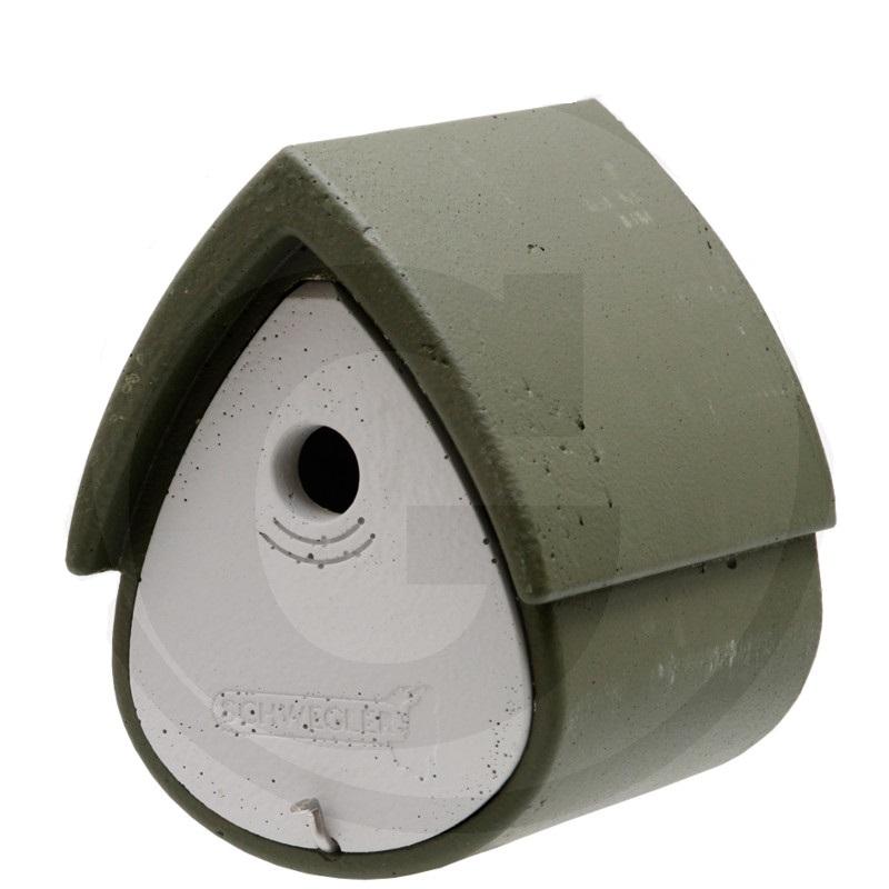 Budka pro sýkorky a většinu menších ptáků Schwegler zeleno bílá rozměry 200 x 230 x 265 mm