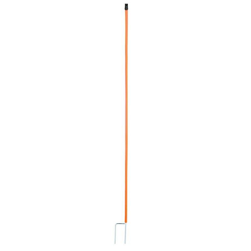 Náhradní tyčka k vodivé síti pro drůbež 112 cm 2 hroty červená pro elektrický ohradník