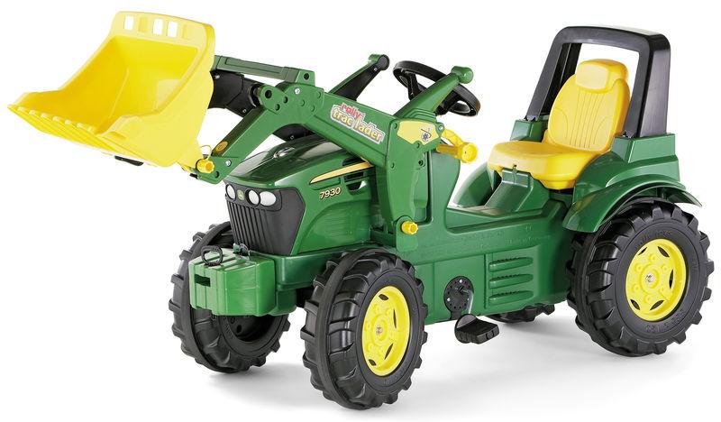 Rolly Toys - šlapací traktor s čelním nakladačem John Deere 7930 Rolly FarmTrac