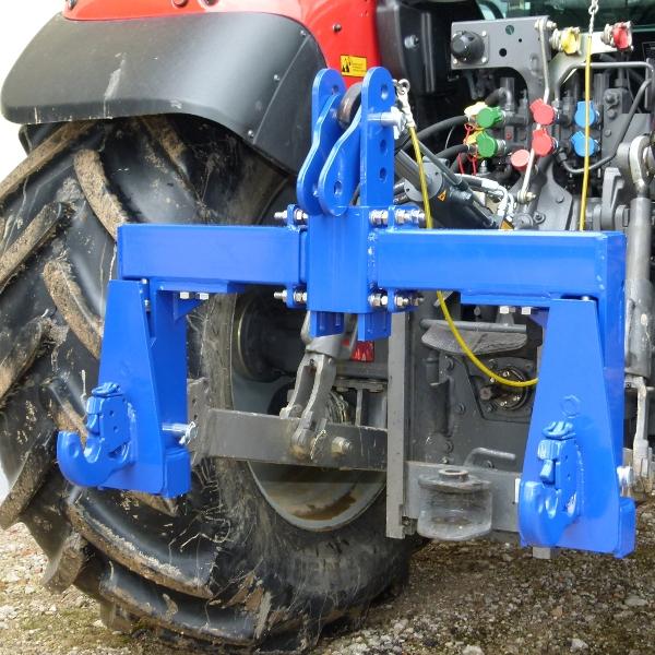 Tříbodová váha Agreto 6000 kg pro traktory kat.2 s indikátorem hmotnosti Standard a háky