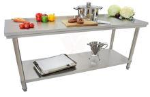Nerezový pracovní stůl Beeketal BA200 gastro 2000 x 600 x 840 mm do kuchyně
