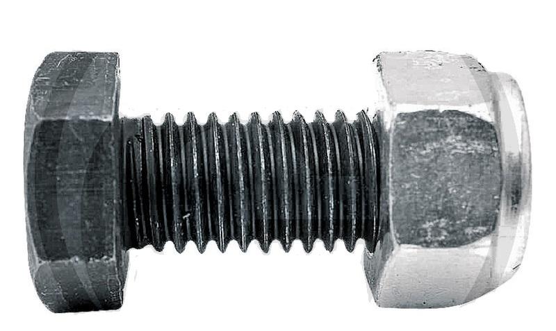 Šroub s maticí k mulčovači vhodný pro Dücker M12 x 1,75 x 30 mm