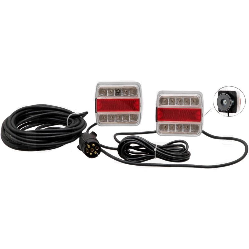 LED magnetická koncová světla pro přívěsy, přívěsné vozíky 4-funkční