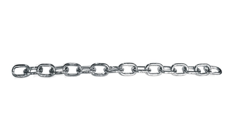 Řetěz DIN 5685 rovné krátké články zinkovaný